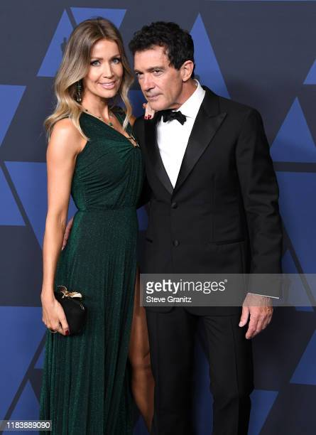 Antonio Banderas and Nicole Kimpel arrives at the Academy Of Motion Picture Arts And Sciences' 11th Annual Governors Awards at The Ray Dolby Ballroom...