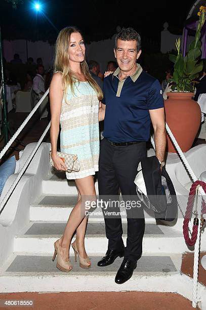Antonio Banderas and Nicole Kempel attend 2015 Ischia Global Film Music Fest Day 1 on July 13 2015 in Ischia Italy