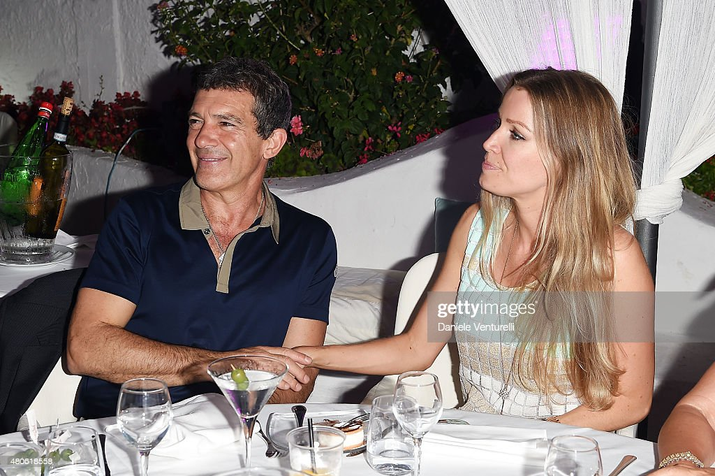 Antonio Banderas and Nicole Kempel attend 2015 Ischia Global Film & Music Fest Day 1 on July 13, 2015 in Ischia, Italy.