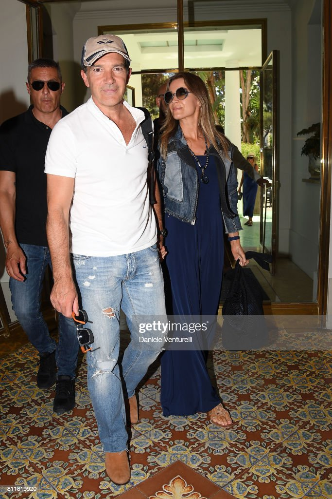 Antonio Banderas and Nicole Kempel attend 2017 Ischia Global Film & Music Fest on July 10, 2017 in Ischia, Italy.