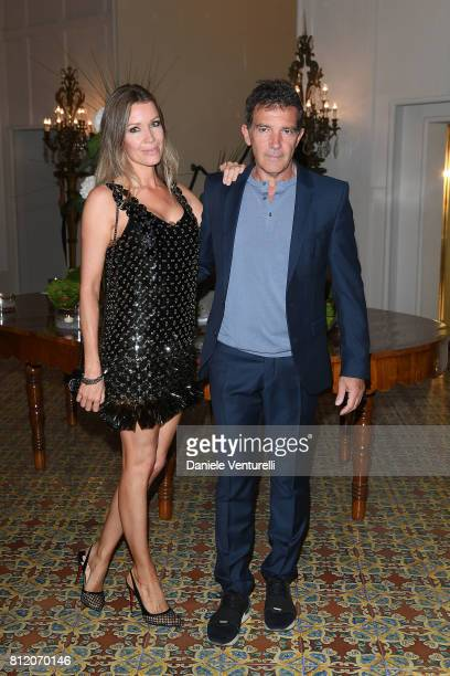 Antonio Banderas and Nicole Kempel attend 2017 Ischia Global Film Music Fest on July 10 2017 in Ischia Italy