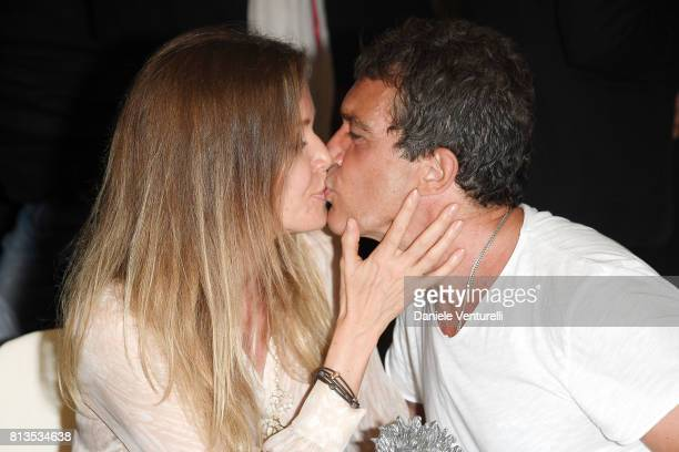 Antonio Banderas and Nicole Kempel attend 2017 Ischia Global Film Music Fest on July 12 2017 in Ischia Italy