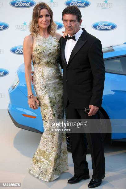 Antonio Banderas and Nicole Kimpel attend Starlite Gala on August 13 2017 in Marbella Spain