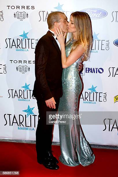 Antonio Banderas and Nicole Kimpel attend Starlite Gala on August 6 2016 in Marbella Spain