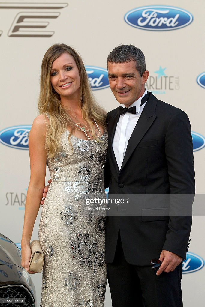 Antonio Banderas and Nicole Kimpel attend Starlite Gala on August 9, 2015 in Marbella, Spain.