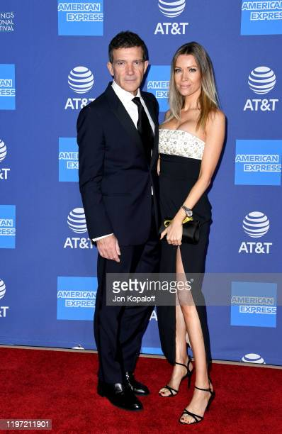 Antonio Banderas and Nicole Kimpel attend the 31st Annual Palm Springs International Film Festival Film Awards Gala at Palm Springs Convention Center...