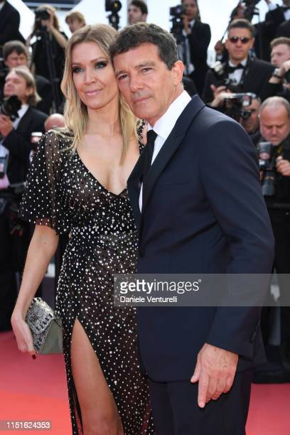 """Antonio Banderas and Nicole Kimpel attend the closing ceremony screening of """"The Specials"""" during the 72nd annual Cannes Film Festival on May 25,..."""