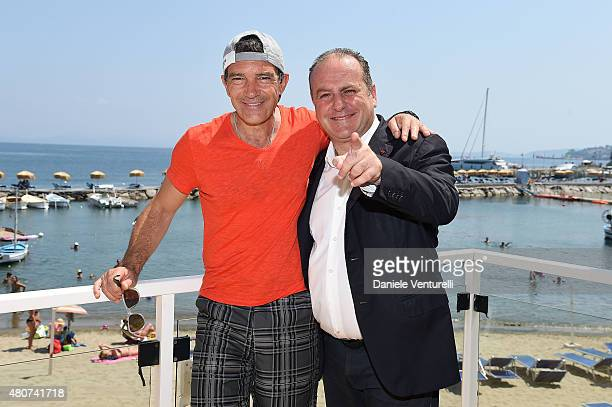 Antonio Banderas and Pascal Vicedomini 2015 Ischia Global Film Music Fest Day 3 on July 15 2015 in Ischia Italy