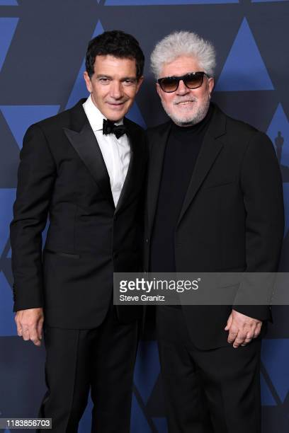 Antonio Banderas and Pedro Almodovar attend the Academy Of Motion Picture Arts And Sciences' 11th Annual Governors Awards at The Ray Dolby Ballroom...