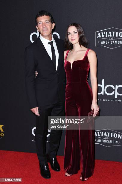 Antonio Banderas and Stella Banderas attend the 23rd Annual Hollywood Film Awards at The Beverly Hilton Hotel on November 03 2019 in Beverly Hills...