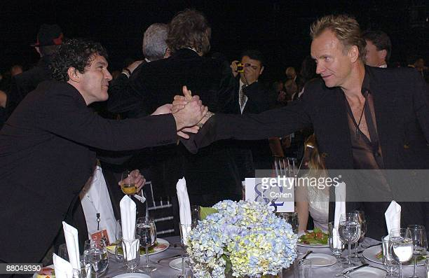 Antonio Banderas and Sting