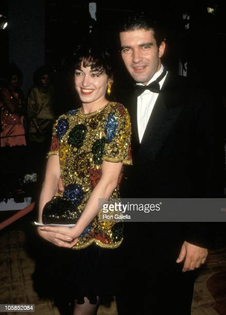 Antonio Banderas and Wife Ana Leza during 64th Annual Academy Awards at Dorothy Chandler Pavilion in Los Angeles California United States