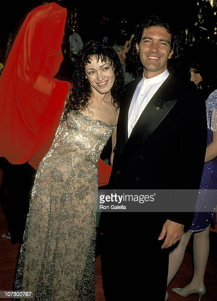 Antonio Banderas and Wife Ana Leza during 66th Annual Academy Awards at Dorothy Chandler Pavillion in Los Angeles CA United States