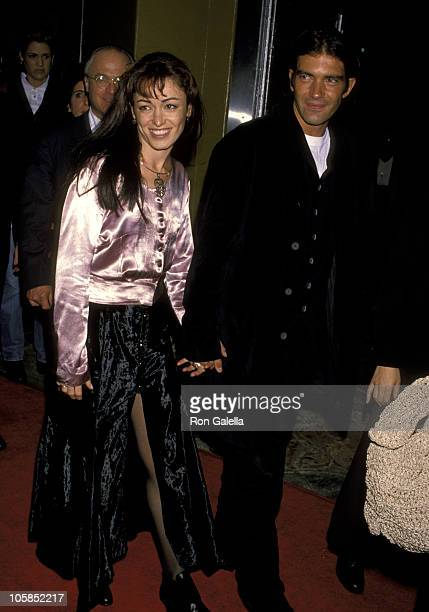 Antonio Banderas and Wife Ana Leza during Interview With A Vampire Los Angeles Premiere at Manns Village Theater in Westwood California United States