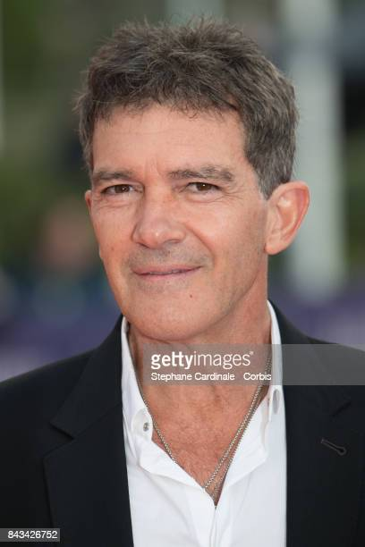Antonio Banderas arrives for the screening of 'The Music of Silence' during the 43rd Deauville American Film Festival on September 6 2017 in...