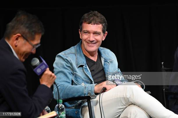 Antonio Banderas at the Pain and Glory press conference during the 57th New York Film Festival at Walter Reade Theater on September 26 2019 in New...