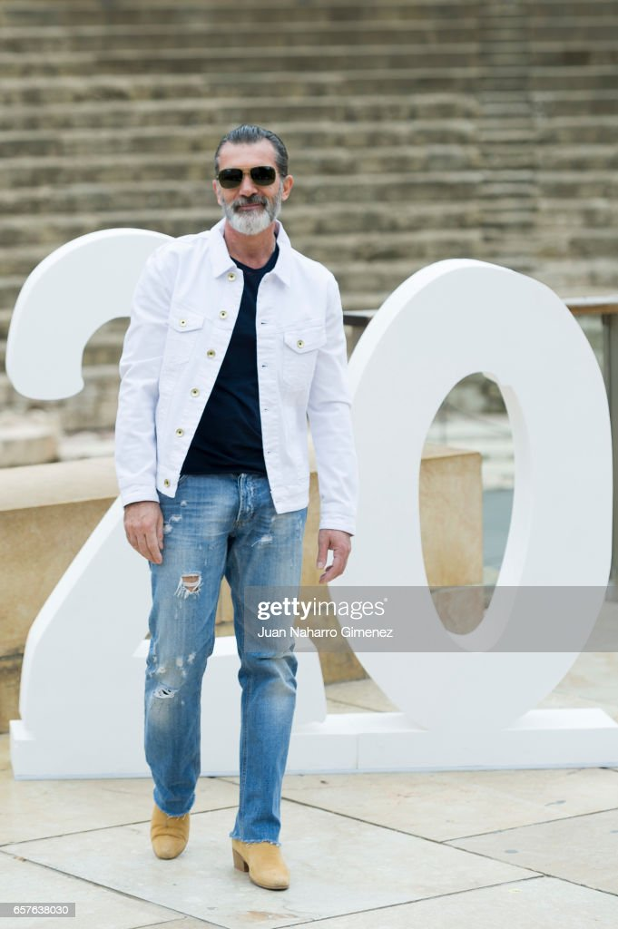 Antonio Banderas attends a photocall during of the 20th Malaga Film Festival on March 25, 2017 in Malaga, Spain.