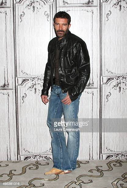Antonio Banderas attends AOL BUILD Presents 'The 33' at AOL Studios In New York on November 2 2015 in New York City