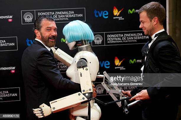 Antonio Banderas attends 'Automata' premiere during 62nd San Sebastian International Film Festival at the Kursaal Palace on September 21, 2014 in San...