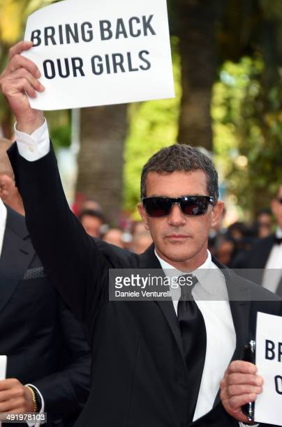 Antonio Banderas attends 'Expendables 3' Premiere at the 67th Annual Cannes Film Festival on May 18 2014 in Cannes France