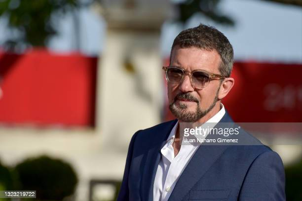 Antonio Banderas attends 'Garcia Y Garcia' premiere during the 24th Malaga Film Festival at the Miramar Hotel on June 12, 2021 in Malaga, Spain.