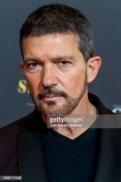 Antonio Banderas attends Goya Cinema Awards 2021 red carpet at Gran Hotel Miramar on March 06, 2021 in Malaga, Spain.