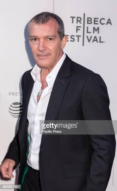 Antonio Banderas attends screening of Genius Picasso' during the 2018 Tribeca Film Festival at BMCC Tribeca PAC Manhattan