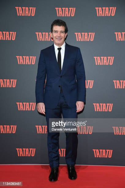 Antonio Banderas attends TATATU Cocktail Party on March 06 2019 in Rome Italy