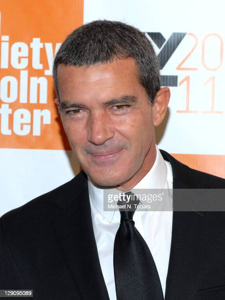 """Antonio Banderas attends the 49th annual New York Film Festival presentation of """"The Skin I Live In"""" at Alice Tully Hall, Lincoln Center on October..."""