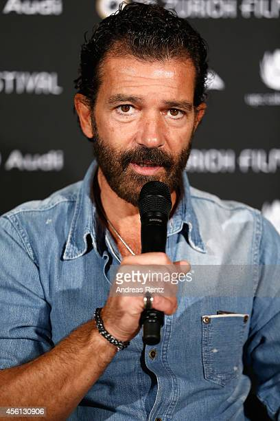 Antonio Banderas attends the 'Automata' Press Conference during Day 2 of Zurich Film Festival 2014 on September 26 2014 in Zurich Switzerland