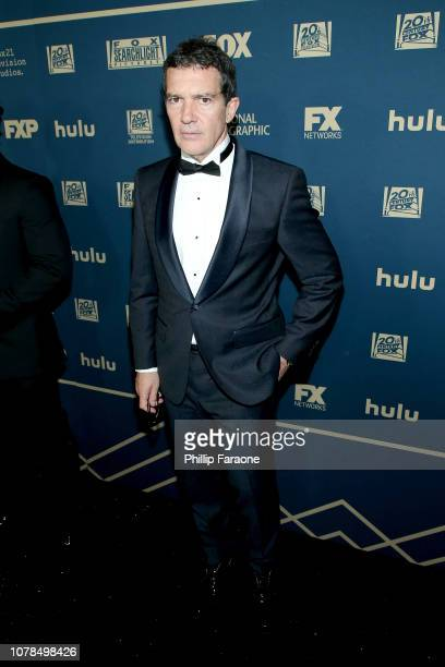 Antonio Banderas attends the FOX FX And Hulu 2019 Golden Globe Awards After Party at The Beverly Hilton Hotel on January 6 2019 in Beverly Hills...
