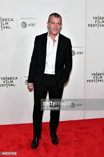 Antonio Banderas attends the 'Genius Picasso' premiere during the 2018 Tribeca Film Festival at BMCC Tribeca PAC on April 20 2018 in New York City