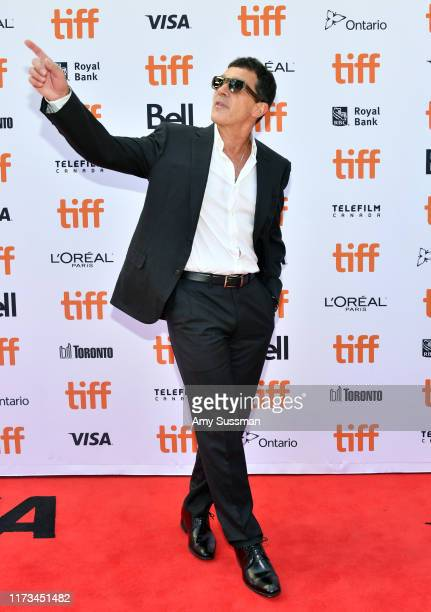Antonio Banderas attends The Laundromat premiere during the 2019 Toronto International Film Festival at Princess of Wales Theatre on September 09...