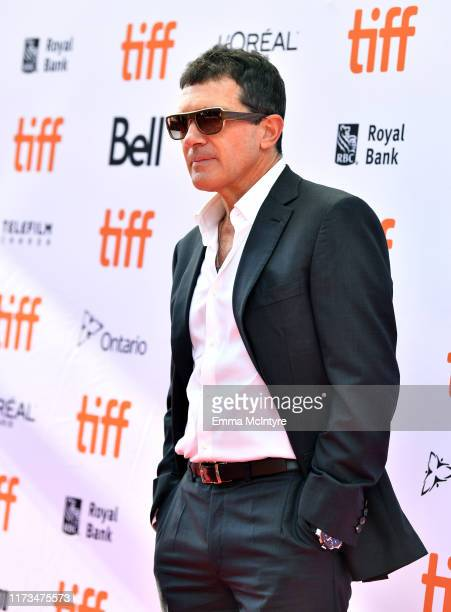 Antonio Banderas attends the North American Premiere of 'The Laundromat' at the The Princess of Wales Theatre on September 09 2019 in Toronto Canada