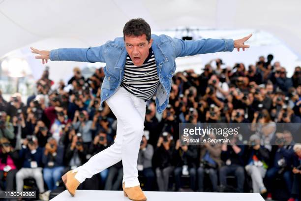 Antonio Banderas attends the Pain And Glory photocall during the 72nd annual Cannes Film Festival on May 18 2019 in Cannes France