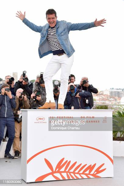 """Antonio Banderas attends the """"Pain And Glory """" photocall during the 72nd annual Cannes Film Festival on May 18, 2019 in Cannes, France."""