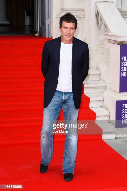 Antonio Banderas attends the Pain And Glory UK Premiere and opening gala of Film4 Summer Screen at Somerset House on August 08 2019 in London England