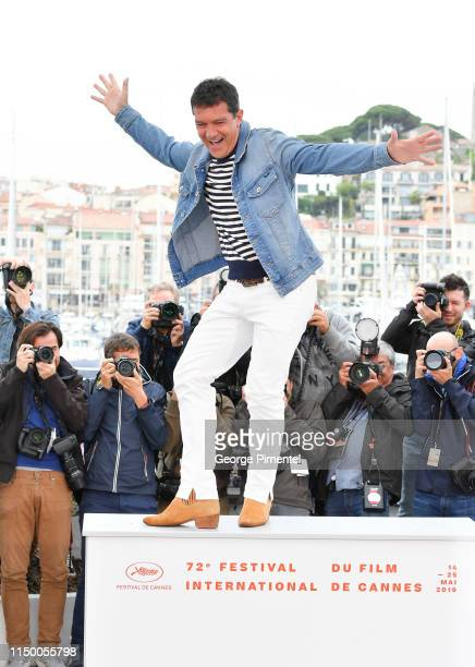 Antonio Banderas attends the photocall for Pain And Glory during the 72nd annual Cannes Film Festival on May 18 2019 in Cannes France