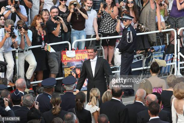 Antonio Banderas attends the The Skin I Live In Premiere during the 64th Annual Cannes Film Festival at Palais des Festivals on May 19 2011 in Cannes...