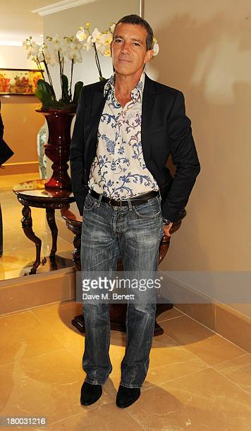 Antonio Banderas attends the UK Premiere of Justin and the Knights of Valour at The May Fair Hotel on September 8 2013 in London England