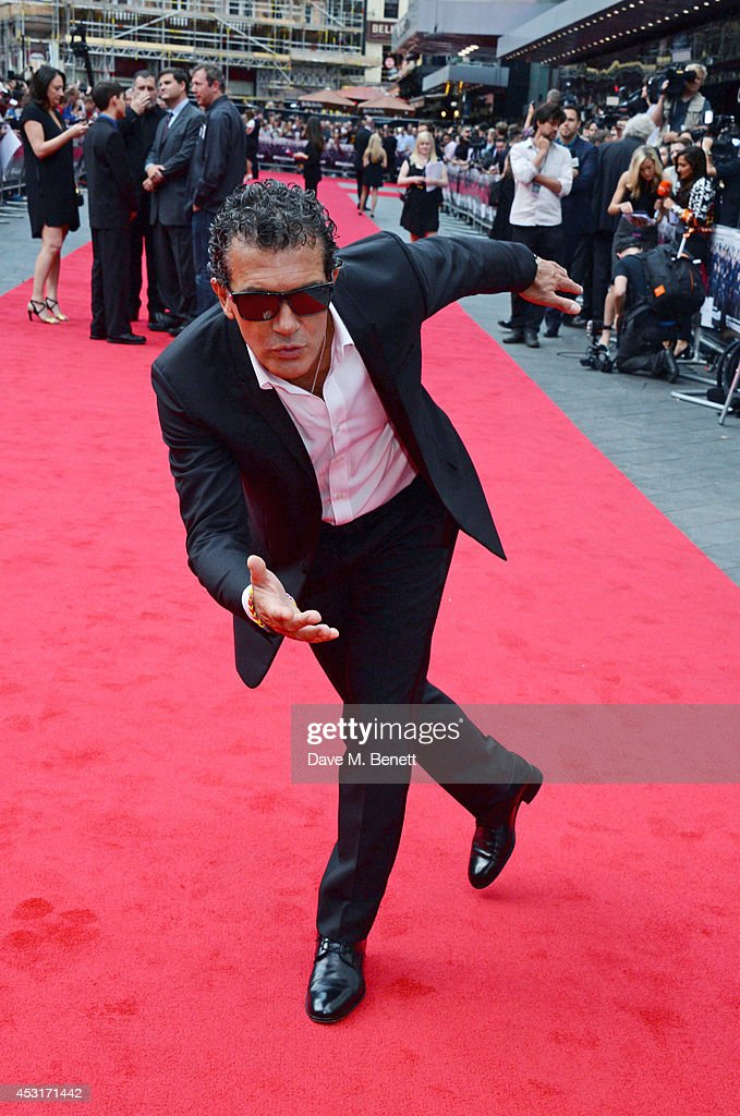 Antonio Banderas attends the World Premiere of 'The Expendables 3' at Odeon Leicester Square on August 4, 2014 in London, England.