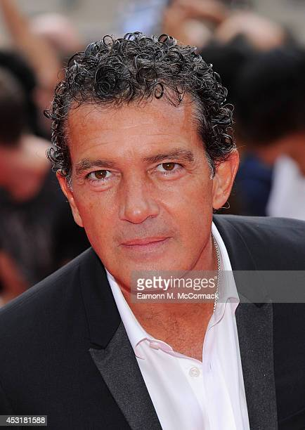 Antonio Banderas attends the World Premiere of The Expendables 3 at Odeon Leicester Square on August 4 2014 in London England