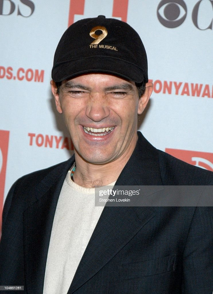 Antonio Banderas during 2003 Tony Awards Nominees Press Reception at The View at the Marriott Marquis in New York City, NY, United States.