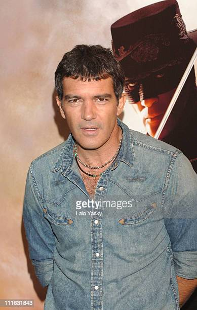 Antonio Banderas during Columbia Pictures' 'The Legend of Zorro' Madrid Photocall at VillaMagna Hotel in Madrid Spain