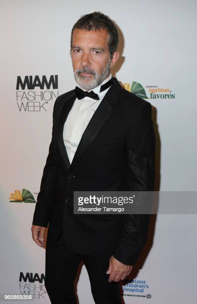 Antonio Banderas is seen at the Miami Fashion Week 2018 Benefit Gala on June 1 2018 in Miami Florida