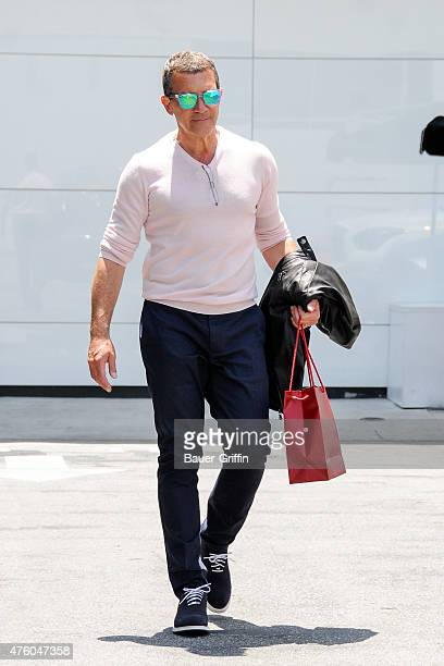 Antonio Banderas is seen leaving Cartier in Beverly Hills on June 05 2015 in Los Angeles California