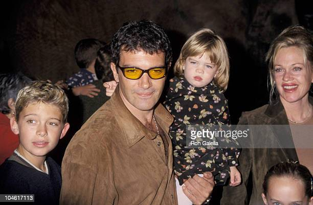 Antonio Banderas Melanie Griffith and family during Lion King II Simba's Pride Los Angeles Premiere at Wadsworth Theatre in Los Angeles California...