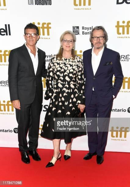 Antonio Banderas, Meryl Streep and Gary Oldman attend the 2019 Toronto International Film Festival TIFF Tribute Gala at The Fairmont Royal York Hotel...