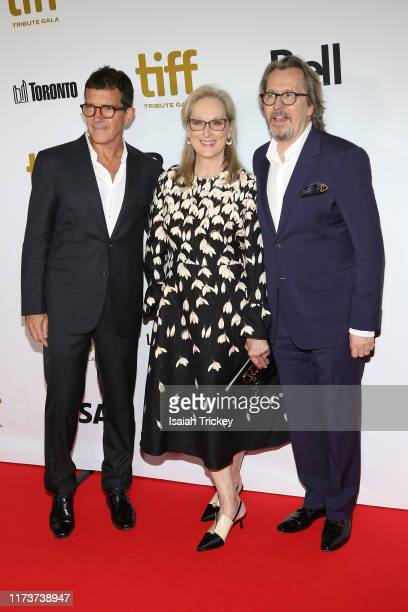 Antonio Banderas Meryl Streep and Gary Oldman attend the 2019 Toronto International Film Festival TIFF Tribute Gala at The Fairmont Royal York Hotel...
