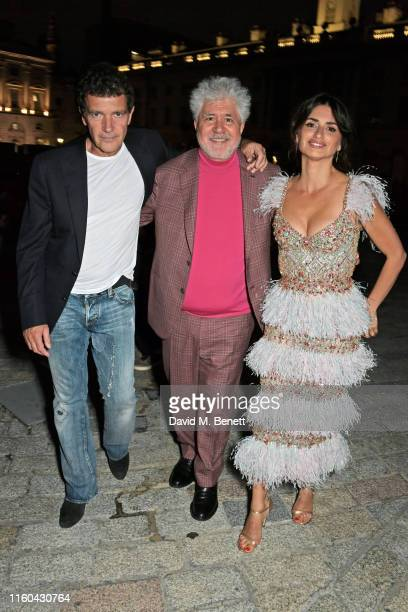 Antonio Banderas Pedro Almodovar and Penelope Cruz attend the opening night of Film4 Summer Screen at Somerset House featuring the UK Premiere of...